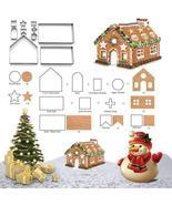 3D Gingerbread house Christmas Cookie Cutters Set Biscuit Mold Baking Tool - $23.04 CAD