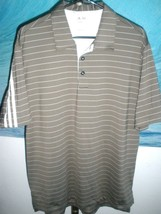 Excellent Men's Adidas Golf ClimaLite Taupe Polo Size Medium (8% Spandex) - $28.70