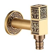 Panda Legends [Square] Brass Antique Faucet Washing Machine Faucet Wall ... - $33.34