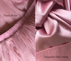 Dusty Rose High Waist Midi Tulle Skirt Dusty Rose Bridal Bridesmaid Tulle Skirts image 7
