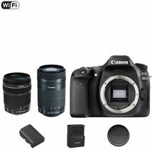 Canon EOS 80 D / 80D 24.2MP DSLR Camera Body + 18-135mm + 55-250mm STM Lens - $1,211.45
