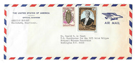1972 USA Embassy Official Business Air Mail Envelope Mauritania Sc# 276 290 - $34.00