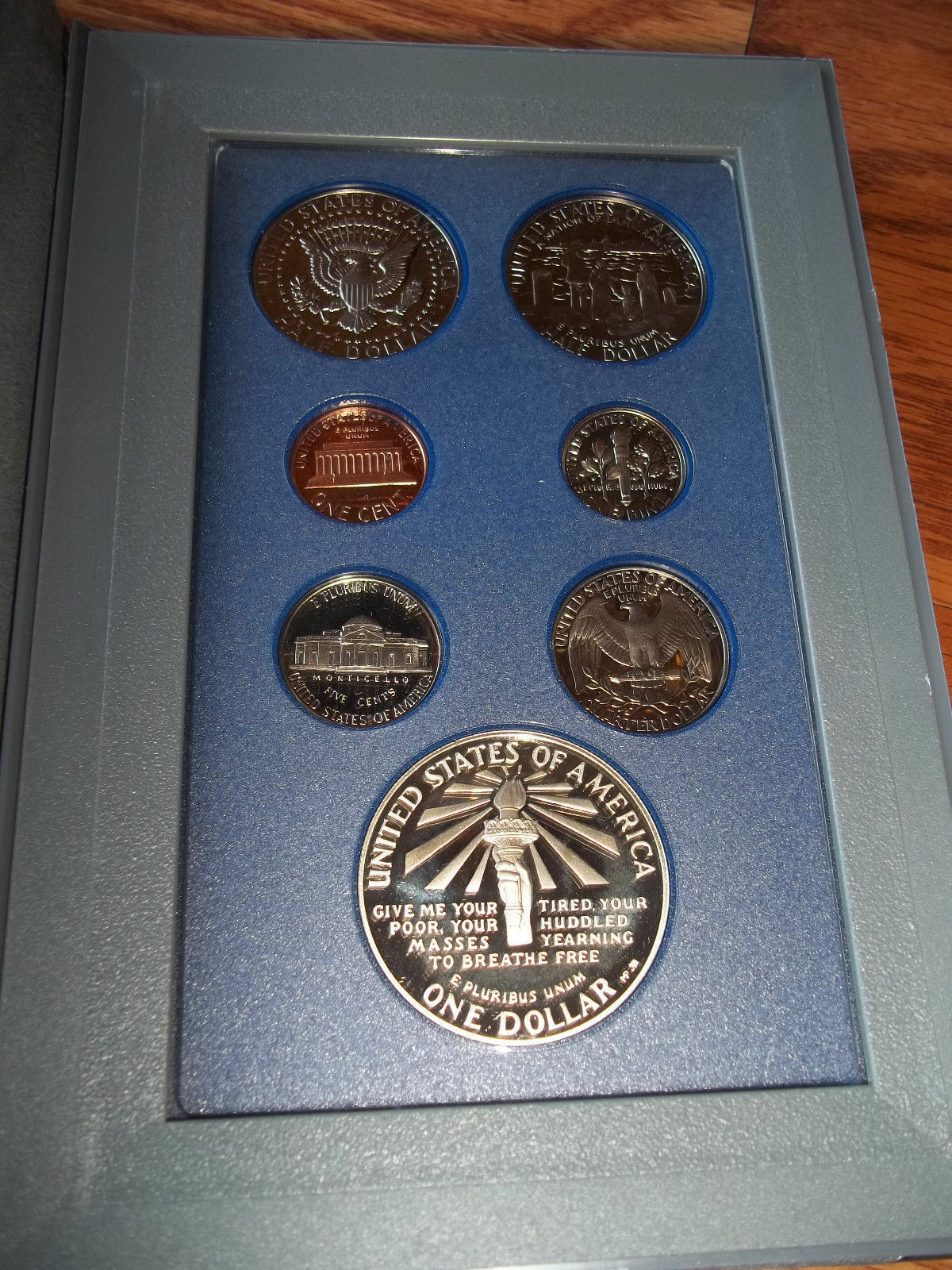 1986 United States Liberty Prestige Coin Set 7 Coins