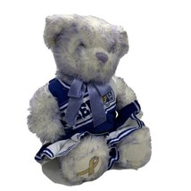 "BUILD A BEAR  Plush BABW Gold Ribbon Child Cancer Awareness 13"" Cheer Ou... - $19.45"