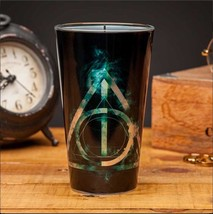 Harry Potter Deathly Hallows Logo Design 13.5 oz Drinking Glass NEW UNUS... - $9.74