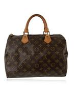 Authentic Louis Vuitton Vintage Brown Monogram Canvas Speedy 30 Bag - $425.70