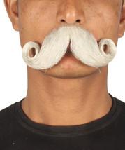 Men's  Stylish Mustache Set   White Cosplay Facial Hair - £14.96 GBP
