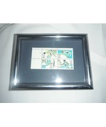 rare block of 4 usa olympic 84 stamps 13 cent framed - $5.49