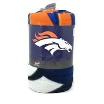 "Denver Broncos 50"" x 60"" Gridiron Fleece Throw Blanket - $22.76"