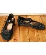 Naot 40 9 Kirei Mary Jane Black Suede Flats Shoes - $22.80