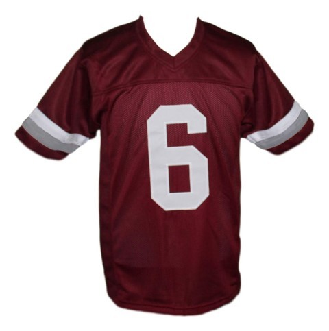 Ac slater  6 bayside saved by the bell football jersey maroon 1