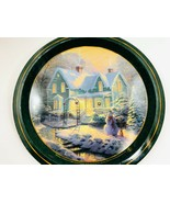 2004 Blessings of Christmas Thomas Kinkade Christmas Tin Tray, Snowman - $21.99