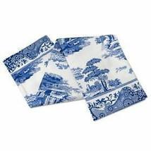 Classic Blue Italian Floral Blue White 100% Cotton Tea Towel 45CM X 74CM - $8.28