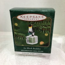 2001 Ice Block Buddies #2 Mini Hallmark Christmas Tree Ornament MIB PriceTag H7 - $12.38