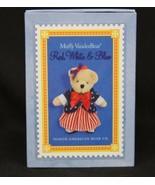 MUFFY VANDERBEAR Matchbox Series Miniature Red White Blue Bear Ornament - $6.76