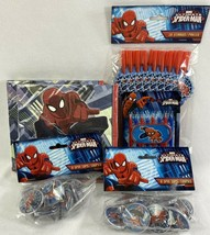 Spider-Man NAPKINS CANDLES, STRAWS, SPINNER TOPS, Birthday Party Favors-NEW - $4.95