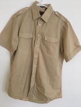 VINTAGE 60s/70s Original LEVIS USA XL Tan Button Front Shirt Men's Poly ... - £30.51 GBP