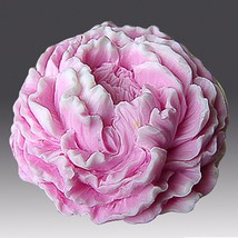 3D Silicone Soap/plaster/clay/Candle Mold-Ruffled Peony - $27.72