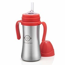 Grosmimi Vacuum Insulated Sippy Cup with Straw with Handle for Baby and ... - $38.91