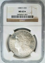 1880 S Silver Morgan Dollar NGC MS 63 Star Deep Mirrors PL White Coin - $139.99