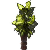 Golden Dieffenbachia w/Bamboo Planter - $136.26 CAD