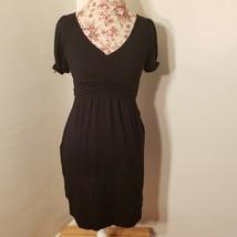 Juicy Couture Black Short Sleeve V Neck Dress Women's Size P - $9.64