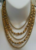 Vintage Trifari Multi-Layer Chain/Bead Runway Statement Necklace - $65.00