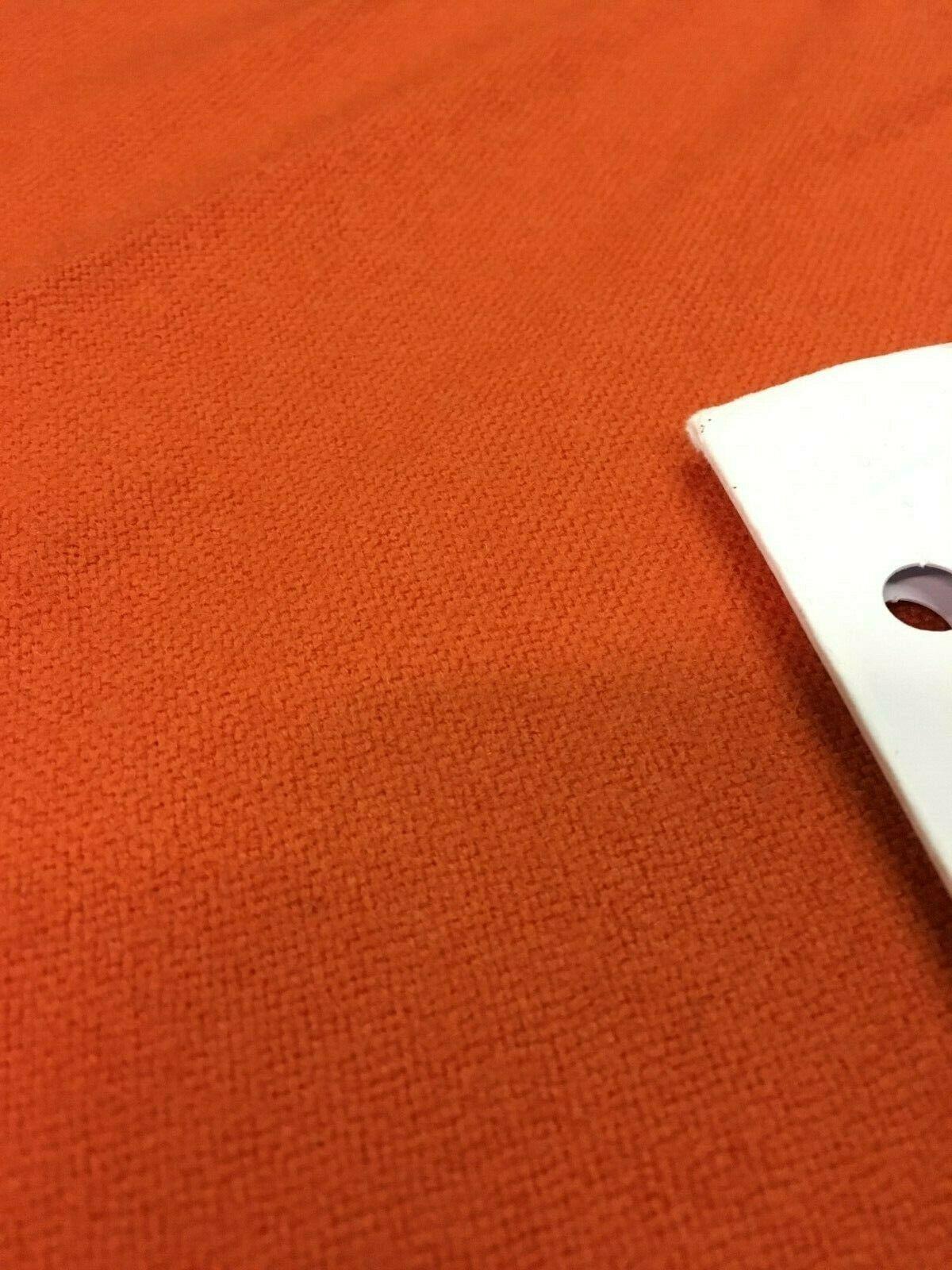 Mid Century Upholstery Fabric Hopsack Orange Wool 1.25 yds PH