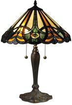 Table Lamp DALE TIFFANY SAWYER 2-Light Verde Antique Bronze - $510.00