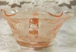 Old Vintage 30s Florentine #1 Pink Depression by Hazel Atlas Cream Soup Nut Bowl image 4