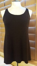 Sz Small Eileen Fisher dark Brown Sleeveless Womans Top Blouse w defects... - $13.85