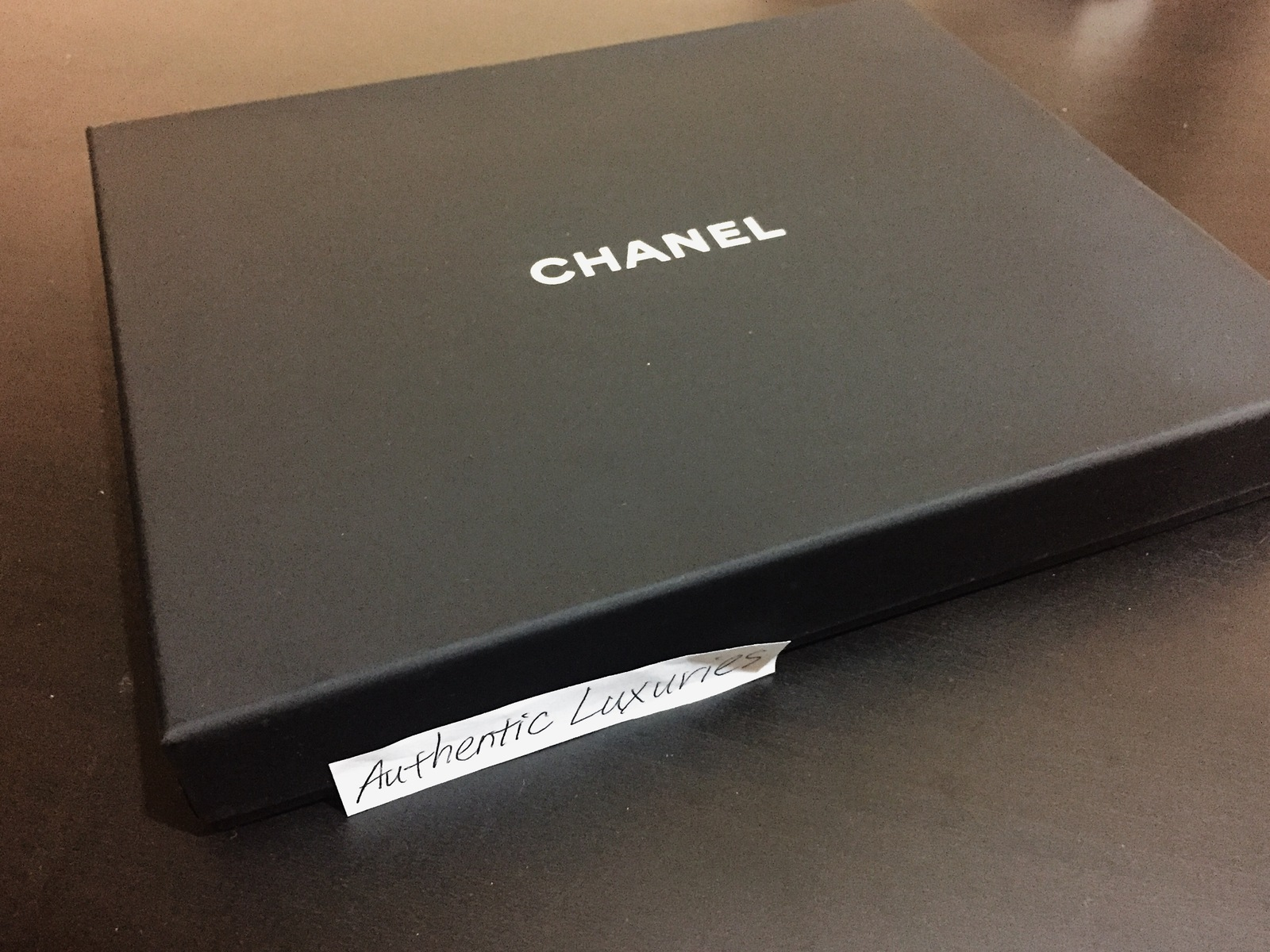 100% Authentic Chanel 5 Crystal CC Logo Silver Long Pearl Necklace MINT