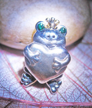 Haunted Free W $49 Mystical Love Frog Prince Magick Charm Sterling Witch Cassia4 - $0.00