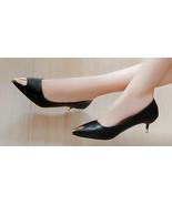 93h012 Lady's Mid-heeled pump w gold plating head & heel, size 5-9, black - $42.80