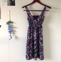 H&M purple butterfly summer dress festival sleeveless Size 2 Excellent Cond - $20.00