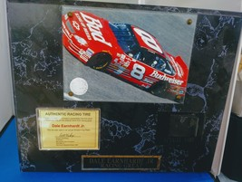 DALE EARNHEART Jr PLAQUE w/TIRE FROM EARLY CUP YEAR DRIVING #8 w/COA -Sa... - $78.67