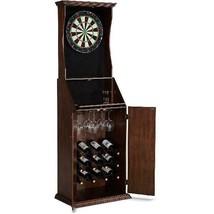 Barrington Bristle Dartboard Cabinet with Wine Storage & LED Lights - $254.42