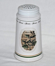 Nantucket Home Cheese Shaker White Porcelain Pottery with Sage Green Herbs - $11.88