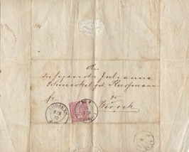 GERMAN  EARLY 1870 ENTIRE COVER ,  LETTER DOCUMENT , NORTH CONFEDERATION... - $11.77