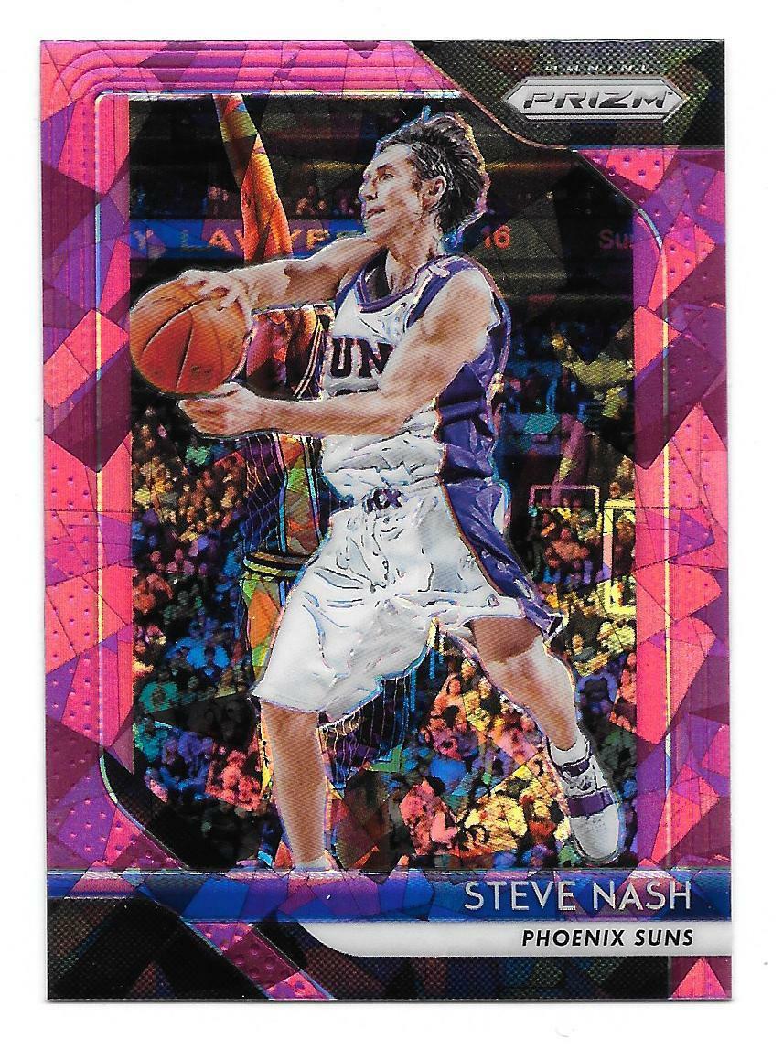 2018-19 Panini Prizm Steve Nash Pink Cracked Ice Prizm Card #155