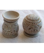 Combo of oil burner / diffuser and tea light candle holder, gift, home d... - $32.56