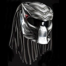 New Predator Helmet Silver Water Style (Dot & Ece Certified) - $250.00