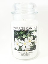 Village Candle Jasmine & Gardenia Scented Large Classic Jar Candle 2 Wic... - $30.00