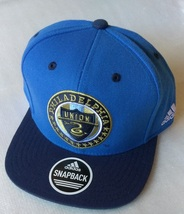 Adidas MLS Philadelphia Union Soccer Hat Cap Snap Back Flat Brim New - $20.00