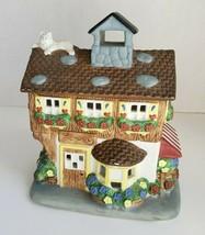 Flower Shop Tealight Candle Holder Cat Porcelain Olde World Partylite P0... - $15.79