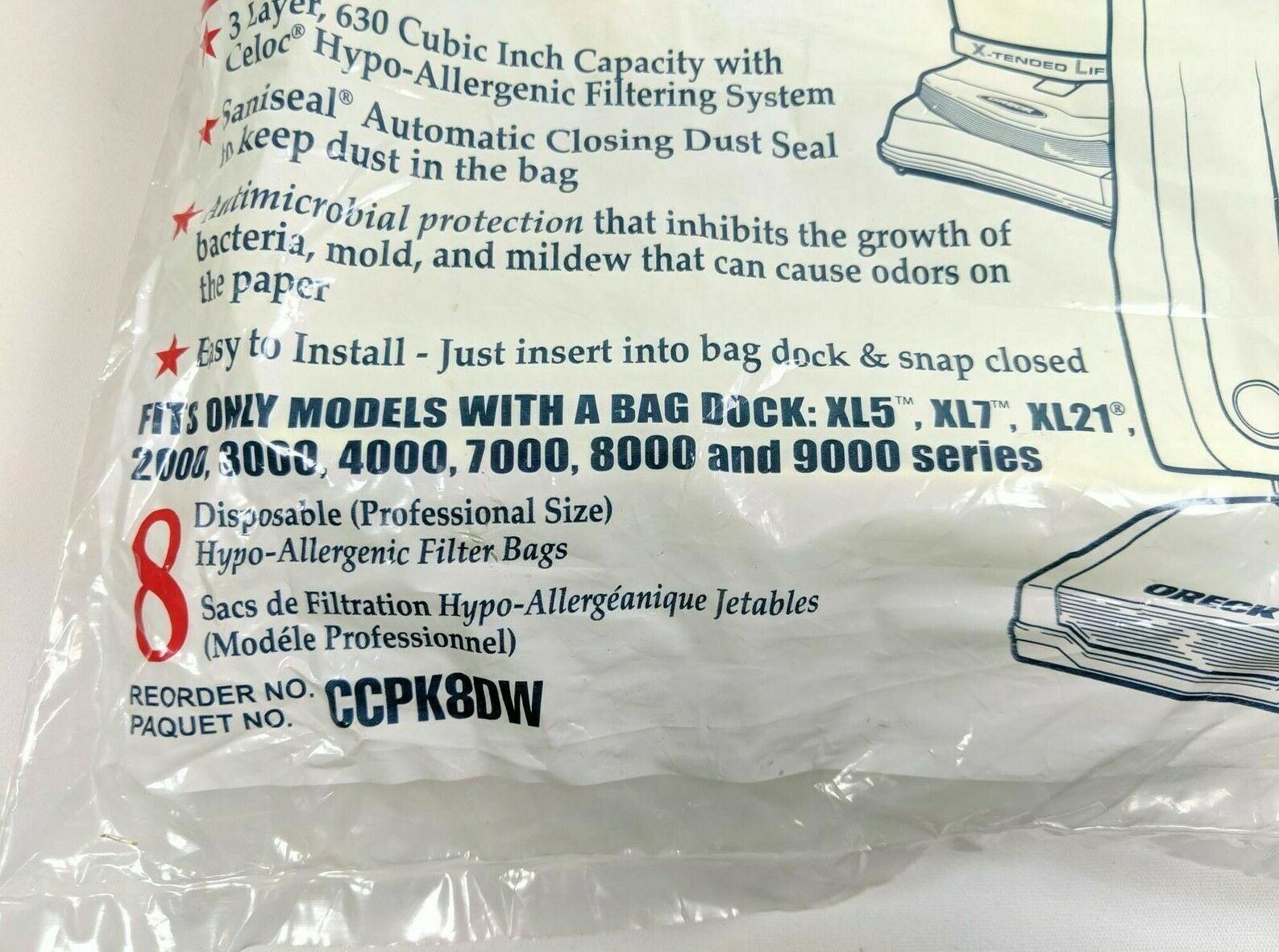 Oreck Vacuum Cleaner Bags Type CC For Uprights 7 Count (wirshf)   image 2
