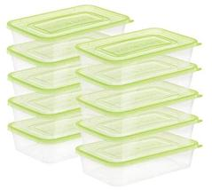 Cooknlock Kitchen BPA Free Polypropylene Square Meal Prep Box Airtight Food Stor