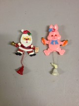 Vintage Lapel/Breast Pins Santa Clause Christmas Easter Bunny Rabbit Peter B23 - $28.04