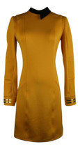 Season 2 Star Trek Discovery Starfleet Commander Gold Dress Costume with... - £34.13 GBP