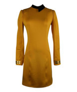 Season 2 Star Trek Discovery Starfleet Commander Gold Dress Costume with... - £34.87 GBP